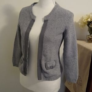 Size XS Banana Republic gray and silver sweater